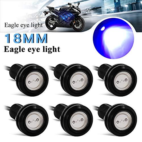 Teguangmei 6Pcs 18mm Eagle Eye LED 9W DRL Lámpara Antiniebla Para Automóvil Moto Luz Diurna Lámpara de Luces de Bombilla de Alta Potencia Azul