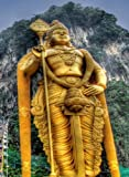 Rectangle Refrigerator Magnet - Batu Caves Malaysia God Murugan Statue Symbol
