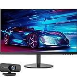 Full HD-Display mit einer Auflösung von 1920x1080, 24 Zoll, Gaming-Monitor, 2 mm ultradünner Rahmen. Leichtes Design, VA-Panel, anti-blaues Licht, abnehmbares Basisdesign, schwarz,With 1080p hd camera