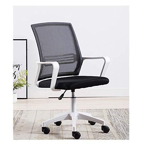 SWNN Gaming Chair Wee Bürostuhl, Heavy-Duty Comfortable Medium Back Home Office Computer-Spiel-Tisch und Stuhl, ergonomisches Design, Kippmechanismus, 360-Grad-Rotation (Color : B)