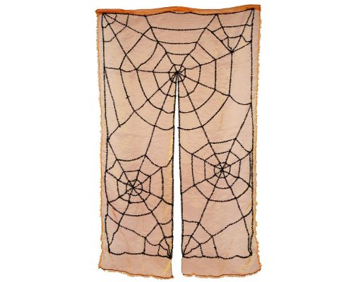 Atosa 8422259959922 - Gordijn geel spinnennet, 140 x 240 cm