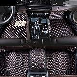 SIZHINIAN Alfombrillas Personalizadas para BMW X6 E71 E72 2015-2019 Juego de Forro de Cuero Antideslizante Impermeable Rojo, BMW X6 2008-2014