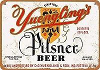2個 Yuenglingのピルスナービールレトロカスタムメタルティンサインホームハウスコーヒービールドリンクバー8x12インチ
