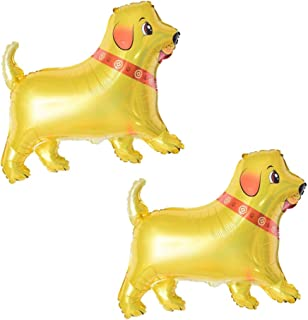(Pack of 2)Bone Shaped Helium Foil Balloons for Pets Doggies Birthday Party Decoration