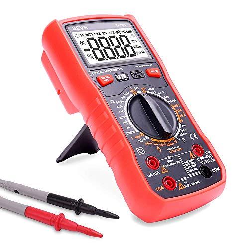 Digital-Multimeter Durchgangsprüfer Voltmeter AC/DC Multi Tester Spannung/Strom/Widerstand / 2 Jahre Garantie aijia (Color : Red 2.0)