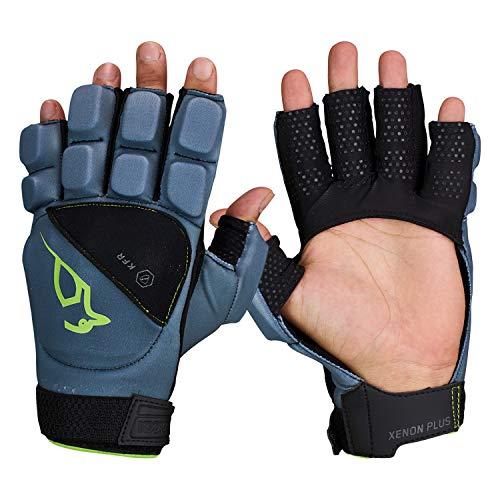 KOOKABURRA Unisex, Jugendliche Xenon Plus Hockey Handguards, grau, X-Small Left Hand