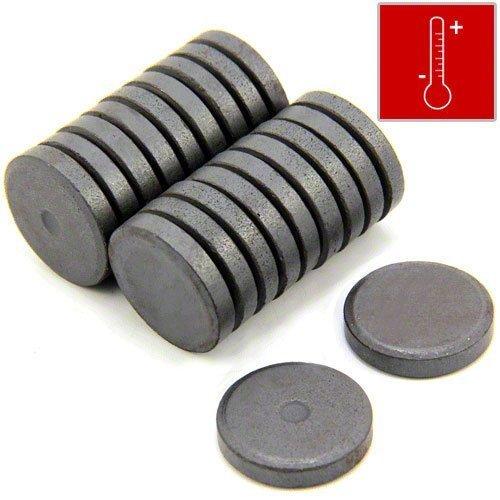 First4magnets F313F-20 25mm Durchmesser x 5mm dicken Y10 Ferrit-Magnet - 0,6 kg ziehen (Packung mit 20), silver, 25 x 10 x 3 cm, Stück