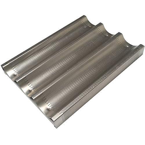 Erre4m Backblech für Baguettes von cm 30 x 40 cm mit Profi-Aluminium-Zugstange