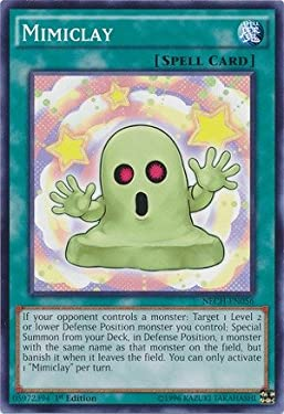 YU-GI-OH! - Mimiclay (NECH-EN056) - The New Challengers - 1st Edition - Common
