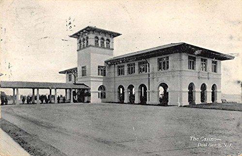 Deal Beach New Jersey Casino Street View Antique Postcard K92389