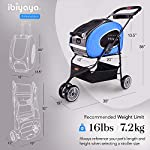 ibiyaya Multifunction Pet Carrier + Backpack + CarSeat + Pet Carrier Stroller + Carriers with Wheels for Dogs and Cats All in ONE (Blue) 12