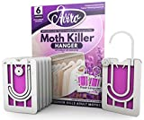 Moth Repellent For Wardrobes - 6 Moth Killer Hangers With Natural Lavender Scent. Highly Effective And Easy To Use Moth Repellent For Clothes. UK Made