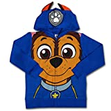 Nickelodeon Paw Patrol Boy's Chase Character Hoodie Jacket with Ears, Blue, Size 6
