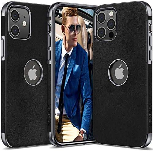 LOHASIC PU Leather for iPhone 12 Pro Case Men Women Luxury Elegant Vintage Slim Phone Cover product image