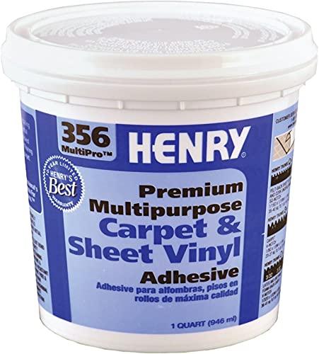 Henry 356 MultiPro Premium Multipurpose High Strength Paste Carpet & Sheet Vinyl Adhesive, 1 quart