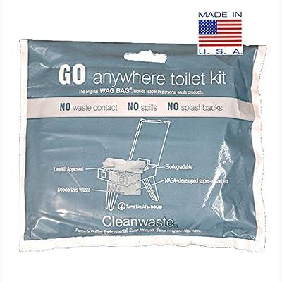 Cleanwaste GO Anywhere Toilet Kits-100/Pack (D007W00)