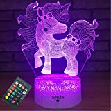SUNCEN Unicorn Lamp Unicorn Night Light for Kids with Remote Touch 7 Colors + 16...