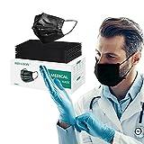 Medical black disposable face masks,Disposable Face Masks Breathable Face Mask (50pcs)