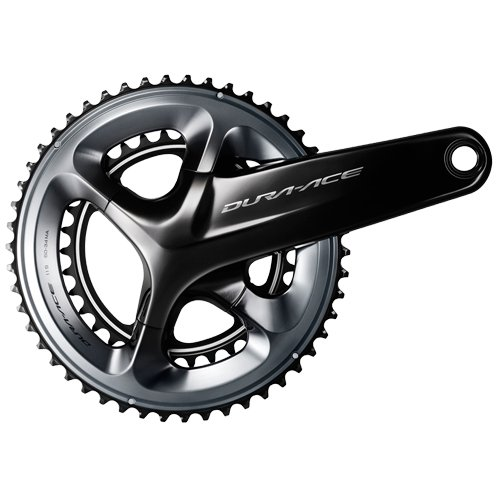 Shimano Dura Ace R9100, Guarnitura, 53/39 Denti, Nero