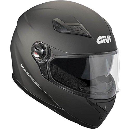 GIVI H504BN90060 Hps 50.4B Integral Casco con Visera, Color Negro Mate