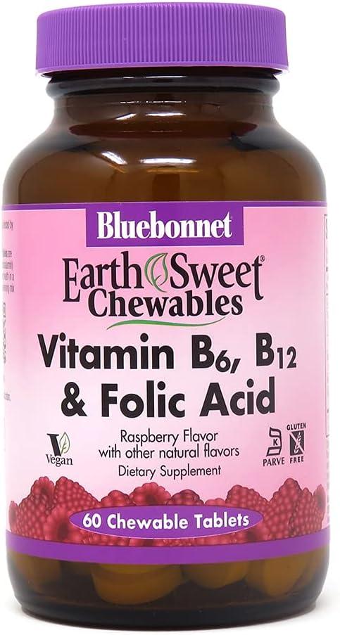 Bluebonnet Nutrition Outlet ☆ Free Shipping Earth Sweet Vitamin Plus Folic B12 Aci NEW B6