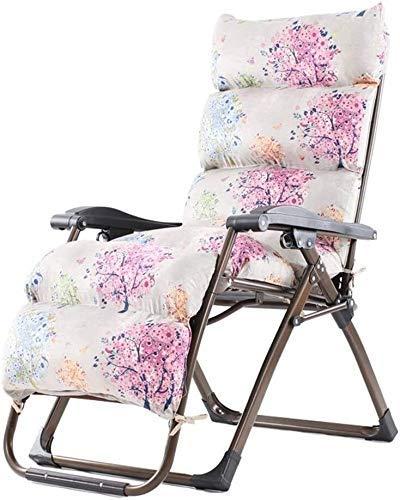WDHWD - Sillón reclinable Chairs, silla reclinable al aire libre, mecedora de jardín para exteriores, silla de relax, cojines reclinables, playa para tomar el sol