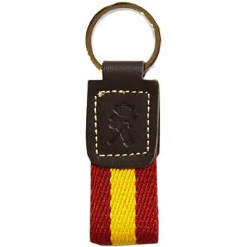Llavero Guardia Civil. Escudo Grabado en Piel marrón. Tira de Goma ...