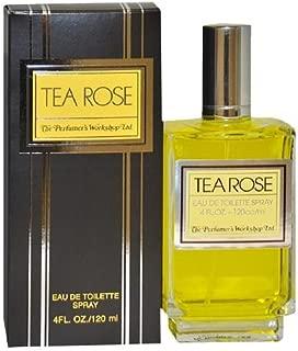Perfumers Workshop Tea Rose Eau de Toilette Spray for Women 4 fl oz(120 ml)