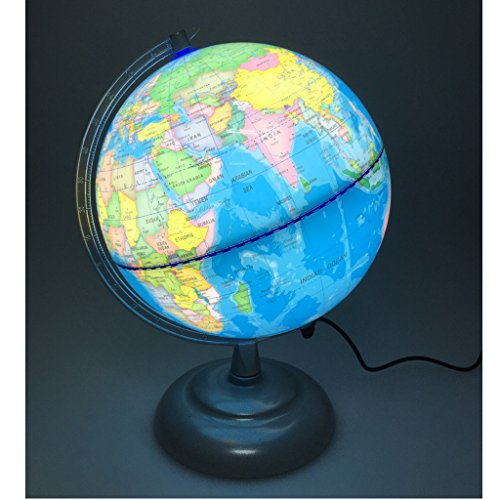 Sharplace 20cm Globe Terrestre Lumineux