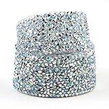 1 yarda de costura con adornos de cristal con motivos de strass, cinta aplicadora de cinta de diamantes de imitación de fijación en caliente, cinta aplicadora con diamantes de imitación, apliques de