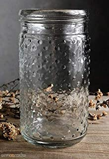 Clear Glass Hobnail Mason Jar 7in - Wedding Event and Home Decor