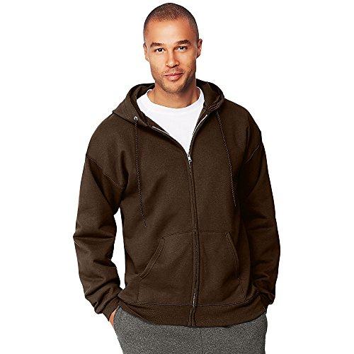 Hanes by Menâ€s Ultimate Cotton Heavyweight Full Zip Hoodie, Dark Chocolate, 3XL 10 Oz Pullover Hooded Sweatshirt
