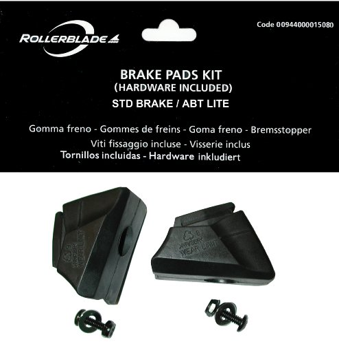 Rollerblade Rollen Brake Pad STD 2 PCS, Schwarz, One size