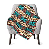 Native American Pattern Baby Blanket for Girls Boys Soft Warm Receiving Throw Blankets