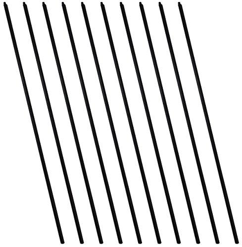 SchwabMarken Bastones para Malabares de plástico o de Madera 10 Bastones de plástico para Platos de Malabares 🔥
