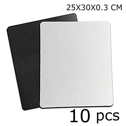 10pcs Sublimation Mouse Pad Blank Mouse Pad Sublimation Blanks Mousepad for Sublimation Transfer Heat Press Printing Crafts 25x30x0.3CM