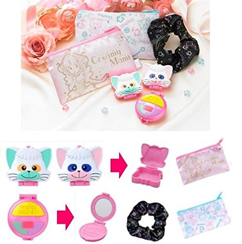 Original Bandai Creamy Mami Capsule Goods Set of 6 - Hair Band, Mirror 2 Pochettes 2 Mini-Box