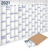 Yohmoe®-Papier XXL Jahresplaner 2020 Wandkalender (100 x 70 cm) GEFALZT in Poster Größe. Querformat. Gefaltet - Wandplaner, Jahreskalender, Plakatkalender, Kalender. Groß: 70x100 cm. 1 Stück