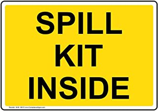 Spill Kit Inside Sign, 10x7 inch Aluminum for Facilities by ComplianceSigns