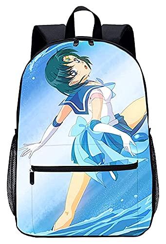Borsa Da Scuola Set 3 In 1 Borsa Da Scuola Per Bam Borsa per bambini a zaino per bambini Sailor Luna leggera borsa portatile, adatto per studenti, adolescenti, ragazzi e ragazze, viaggio