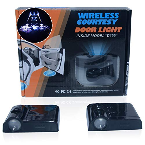 Spoya Star Wars Darth Vader Wireless Magnetic Car Door Step LED Welcome Logo Shadow Ghost Light Laser Projection Projector Light