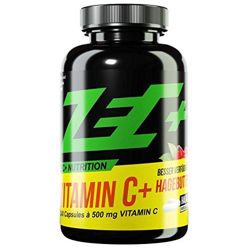 ZEC+ Vitamin C HOCHDOSIERT mit 500 mg | mit naturbelassenem Hagebuttenextrakt