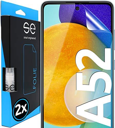 smart engineered 2X 3D Schutzfolie für Samsung Galaxy A52 und A52 5G - Transparente HD Bildschirmschutz-Folie - Hüllenfre&lich - Schutz vor Dreck & Kratzern - Kein Glas - Made in Germany