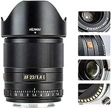VILTROX 23mm f/1.4 Auto Focus E-Mount Lens Compatible for Sony,Wide Angle Large Aperture APS-C Lens for Sony E-Mount Cameras A6500 A6300 A6100 A9 A7RⅣ A7RⅢ A7Ⅲ A7RⅡ A7Ⅱ A7S A7R
