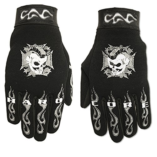 Hot Leathers Hardcore Mohawk Mechanic Handschuhe Large Schwarz GVM2003 BLACK; L