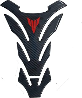 Red 3D Carbon Fiber Fuel Gas Tank Pad Filler Cover Sticker Decals for Yamaha MT Tracer FZ 03 07 09 10