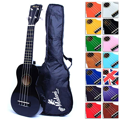 Black Soprano Ukulele with Bag, plus 2750+ downloadable pages of Uke Songs,...