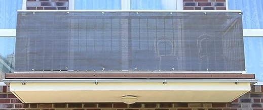 90cm x 600cm, Anthrazit Balkonsichtschutz Windschutz wasserdicht Blickdicht f/ür Gartenzaun LARS360 PVC Balkon Sichtschutz Balkonbespannung Balkonverkleidung Balkon Terrasse