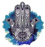 5D Diy Diamond Painting Kits Elegant Ornate Hamsa Hand Fatima Good Luck Amulet Full Drill Painting Arts Craft Canvas For Home Wall Decor Full Drill Cross Stitch Gift 20X16 Inch