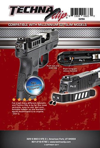 Techna Clip Gun Belt Clip – Taurus Millennium G2/709 Slim Series, Ambidextrous